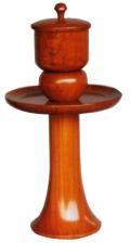 欅製献茶湯器(1対) 小 高さ9寸(27cm)