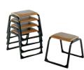 アルミ本堂用椅子(背もたれ無)巾43高51奥40cm 重量2.2kg 5脚セット