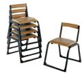 アルミ本堂用椅子(背もたれ付)巾43高64奥51cm 重量2.8kg 5脚セット