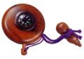 方位計付塗香入 紫檀 直径5cm 瓢箪付用