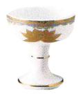 仏器 金彩蓮 直径1.8寸(5.4cm)高さ6.4cm 陶器製
