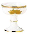 仏器 金彩蓮 直径1.6寸(4.8cm)高さ6cm 陶器製