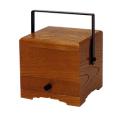 角型手堤香炉(栓)(オトシ蓋付)幅4寸奥12cm高12cm