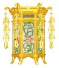 木製宝相華吊灯篭