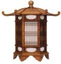 欅製六角吊灯籠