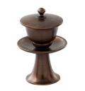 天祥型 茶湯器 鍋長色 口径1.5寸(4.5cm)