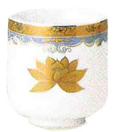 湯呑 金彩蓮 1.8寸(5.4cm)高さ6cm 陶器製
