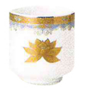 湯呑 金彩蓮 1.6寸(4.8cm)高さ5.2cm 陶器製