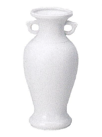 白サギ花立 陶器