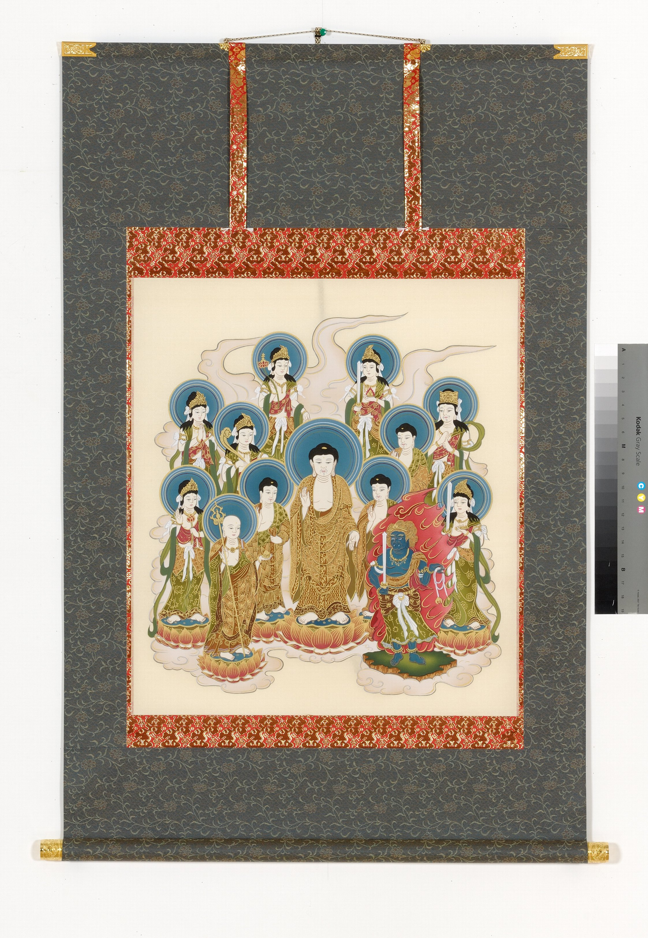 釈迦十三仏 掛軸 横