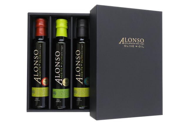 チリ産 ALONSO(アロンソ)エキストラヴァージンオリーブオイル(Coratina&Blend&Frantoio) 3本BOXセット