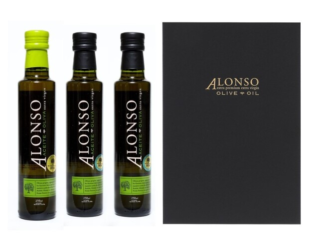 チリ産 ALONSO(アロンソ)エキストラヴァージンオリーブオイル(Blend1本&Frantoio2本) 3本BOXセット