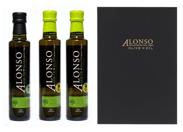チリ産 ALONSO(アロンソ)エキストラヴァージンオリーブオイル(Blend2本&Frantoio1本) 3本BOXセット