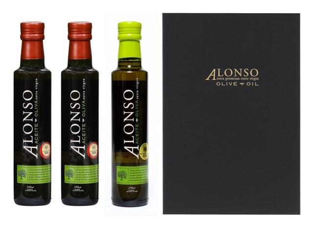 チリ産 ALONSO(アロンソ)エキストラヴァージンオリーブオイル(Blend1本&Coratina2本) 3本BOXセット