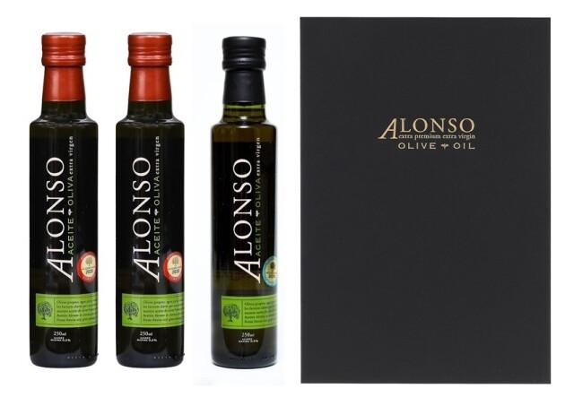 チリ産 ALONSO(アロンソ)エキストラヴァージンオリーブオイル(Frantoio1本&Coratina2本) 3本BOXセット