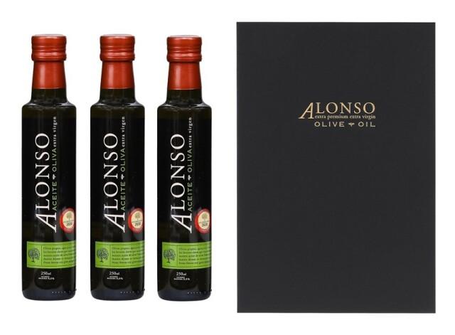 チリ産 ALONSO(アロンソ)エキストラヴァージンオリーブオイル(Coratina) 3本BOXセット