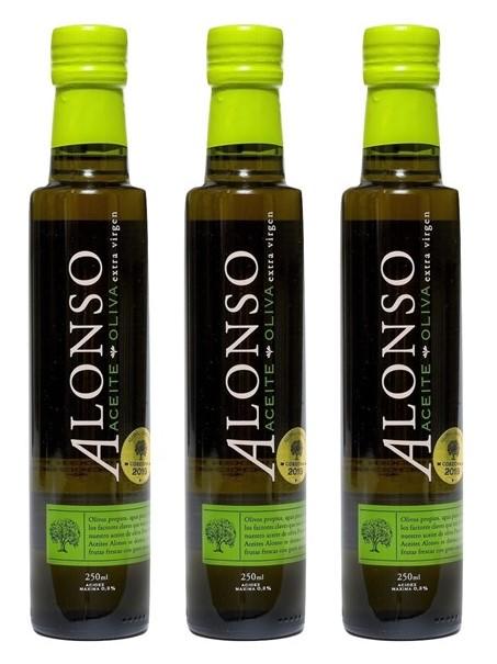 チリ産 ALONSO(アロンソ)エキストラヴァージンオリーブオイル(Blend) 3本セット