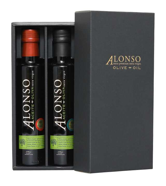 チリ産 ALONSO(アロンソ)エキストラヴァージンオリーブオイル(Coratina&Frantoio) 2本BOXセット