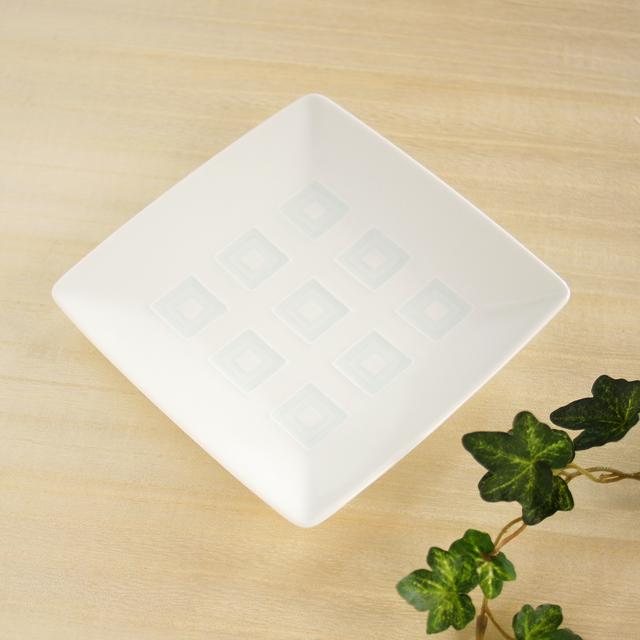 白山陶器 升目紋角皿(銘々皿)