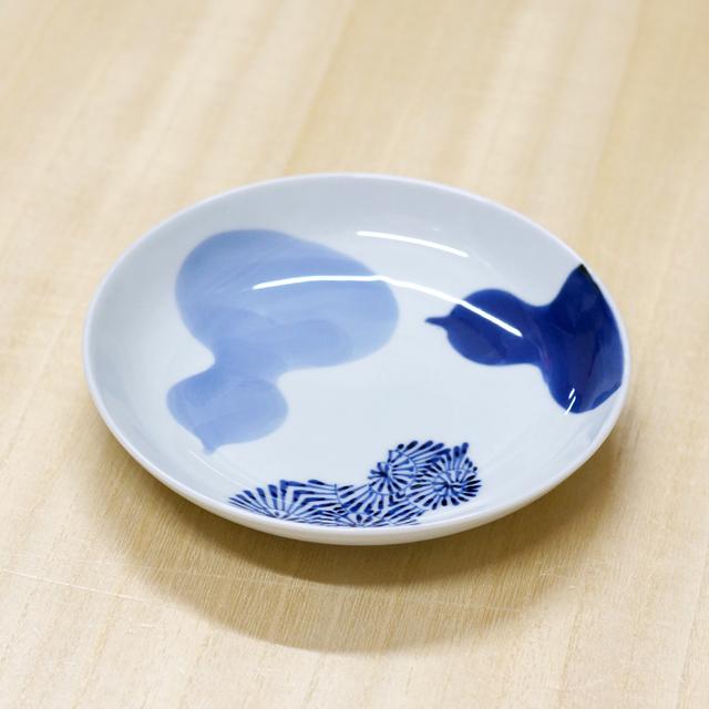 【和食器通販ショップ 藍土な休日】有田焼 そうた窯 染付瓢絵 5寸多用皿