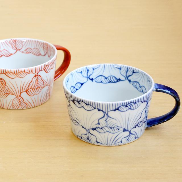 【和食器通販ショップ 藍土な休日】 有田焼 そうた窯 惣太窯 藍土オリジナル スープカップ 花弁紋