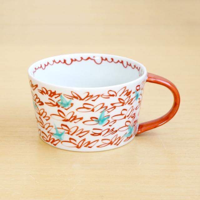 【和食器通販ショップ 藍土な休日】 有田焼 そうた窯 惣太窯 藍土オリジナル スープカップ 風花