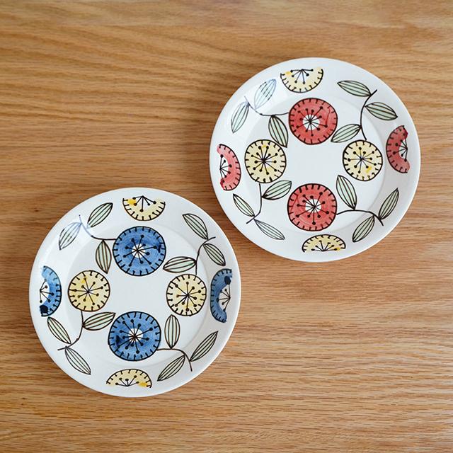 和食器 通販 藍土 藍土な休日 太一窯 波佐見焼 丸皿 プレート ケーキ皿 取皿 かわいい