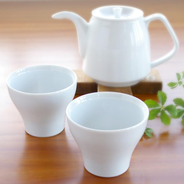 陶房青 白磁フリーカップ小