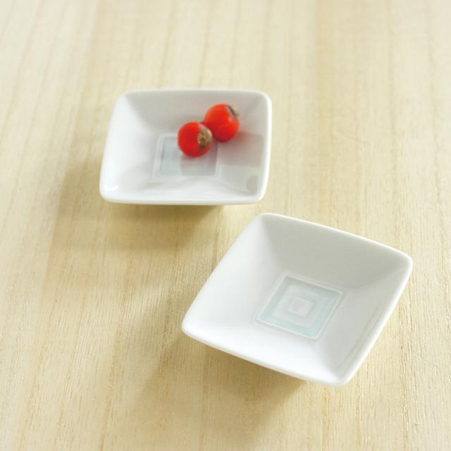和食器通販ショップ藍土な休日 テーブルコーディネート 白山陶器 升目紋豆皿
