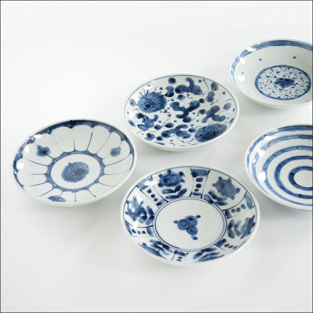 【和食器通販ショップ藍土な休日】工房禅 横田 勝郎  染付5寸皿