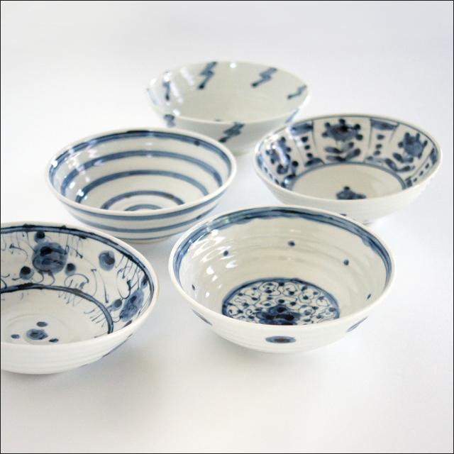 【和食器通販ショップ藍土な休日】工房禅 横田 勝郎  染付5寸鉢