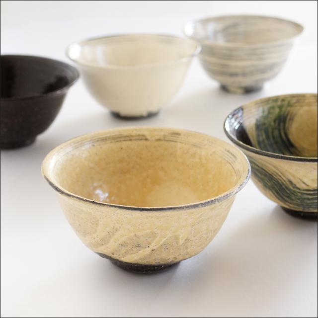 【和食器通販ショップ藍土な休日】工房禅 横田勝郎 線彫反茶碗(大)(5色)