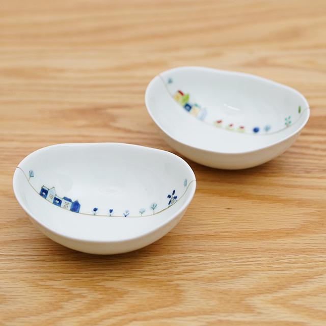 和食器 有田焼 通販 藍土な休日 藍土 一峰窯 いっぽう 楕円小鉢 小鉢 ボウル オランダ かわいい
