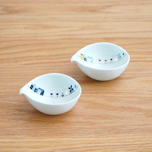 和食器 有田焼 通販 藍土な休日 藍土 一峰窯 いっぽう 片口小鉢 小鉢 ボウル オランダ かわいい