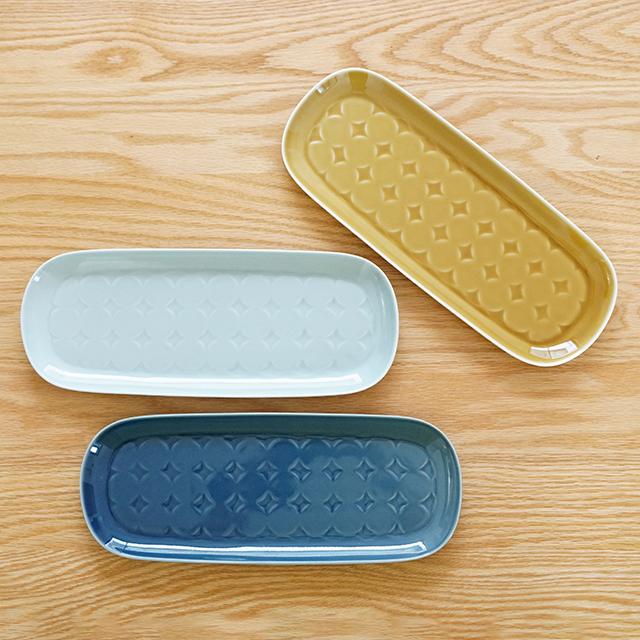 和食器 有田焼 通販 藍土な休日 藍土 和山窯 波佐見焼 プレート 楕円皿 長皿