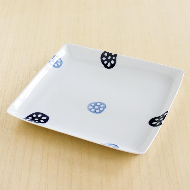 【和食器通販ショップ藍土な休日】波佐見焼 和山窯 レンコン盛皿