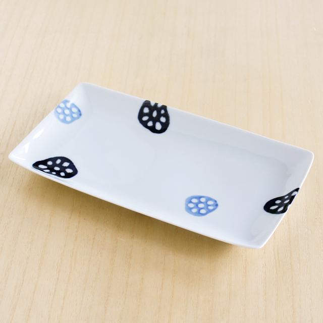 【和食器通販ショップ藍土な休日】波佐見焼 和山窯 レンコン長角皿