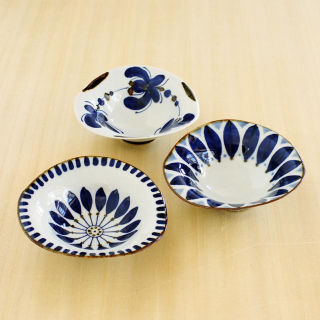 【和食器通販ショップ 藍土な休日】まっきーのテーブルコーディネートの器 波佐見焼 翔芳窯 変形鉢
