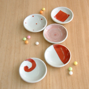 赤絵豆皿セット