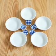 波佐見焼 和山窯 丸皿 小皿 ハンディ小皿 かわいい 幾何学 和食器 箸置き 【和食器通販ショップ 藍土な休日】