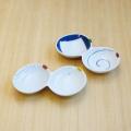 【和食器通販ショップ 藍土な休日】有田焼 伝平窯 うず 十草 二品盛  2連皿 仕切り皿