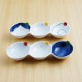 【和食器通販ショップ 藍土な休日】有田焼 伝平窯 うず 十草 三品盛  3連皿 仕切り皿