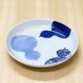 【和食器通販ショップ 藍土な休日】有田焼 そうた窯 染付瓢絵 6寸多用皿