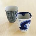 和食器通販ショップ 藍土な休日  そうた窯 たこ唐草・龍雲 角フリーカップ