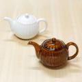 【和食器通販ショップ 藍土な休日】波佐見焼 利左エ門窯 しのぎ アメ釉 白い器 ポット 茶器