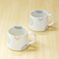 【和食器通販ショップ 藍土な休日】波佐見焼 和山窯 藍土 オリジナル マグカップ 北欧 かわいい レース