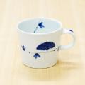 【和食器通販ショップ 藍土な休日】有田焼 一峰窯 染付 花 唐草 マグカップ カップ