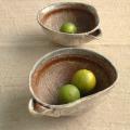 【和食器通販ショップ 藍土な休日】作家 陶芸家 うつわ工房 熊谷 粉引 片口 陶器 楕円 鉢 土物
