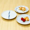 【和食器通販ショップ藍土な休日】 波佐見焼 重山陶器 染付 19cmプレート パン皿 取皿