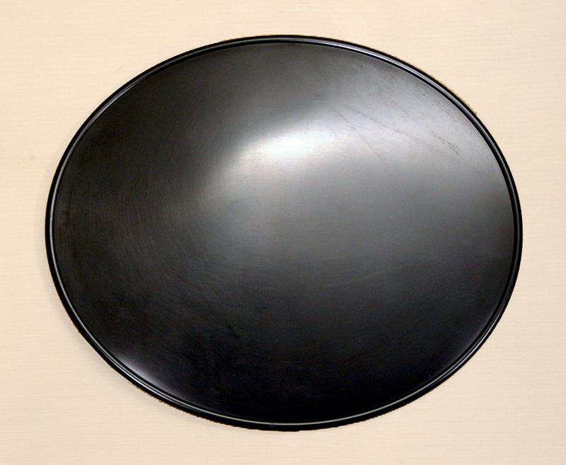 ユニバーサル オーバルナンバープレート(ブラック)